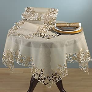 Amazon.com - Embroidered And Cutwork Design Tablecloth And