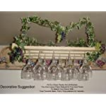 3 Row 24 Inch Hanging Wine Glass Rack