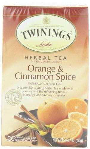 TWININGS Herbal Tea, Orange and Cinnamon Spice, 20-Count (Pack of 6)