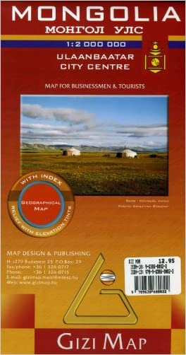 Mongolia Geographic Map (English, French, Italian, German and Russian Edition)