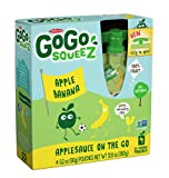 GoGo SqueeZ AppleBanana, Applesauce on the Go, 3.2-Ounce Pouches (Pack of 48)