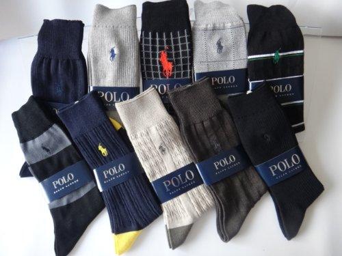 靴下 1足用ギフト袋5枚付き POLO RALPH LAUREN (ポロラルフローレン) カジュアルソックス 5足組アソート