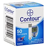 Bayer Contour Test Strips, Blood Glucose, 50 ct.