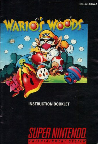 Wario's Woods SNES Instruction Booklet (Super Nintendo Manual Only) (Super Nintendo Manual) (Wario Woods Snes compare prices)