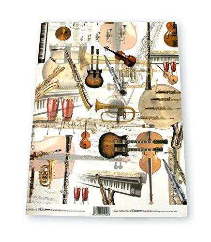 Geschenkpapier-Strumenti-Schnes-Geschenkpapier-fr-Musikgeschenke