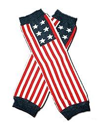 Rush Dance American USA Patriotic Flag Stripes & Stars Baby/ Toddler Leg Warmers (One Size, US Flag Horizontal)