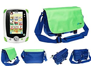 Ultimate Addons Kids Blue and Green Messenger Style Bag Carry Case for LeapFrog LeapPad Tablet from Ultimate Addons