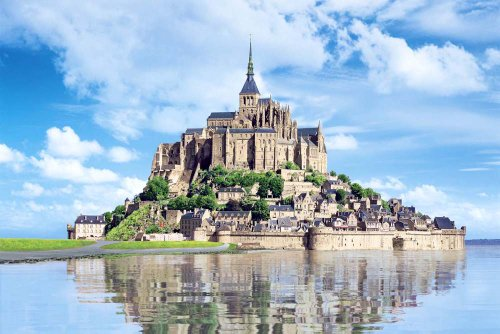 Aim-the-bay-X-master-of-the-puzzle-World-Heritage-Site-Mont-Saint-Michel-France-japan-import-by-Epoch