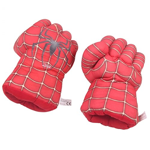 Newest Creative Warm Spider Polyester Fiber Boxing Gloves For Children Light Red 24001472 front-453253