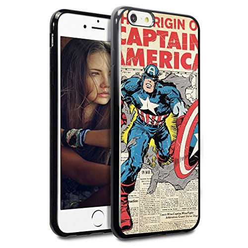 Onelee - Captain America Comics Soft Rubber TPU Case for iPhone 6 / 6S 4.7