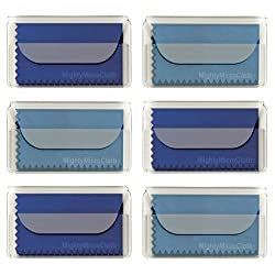 Microfiber Cleaning Cloth Perfect For Eyeglasses, Lens, Cell Phones Etc, 6 Pack