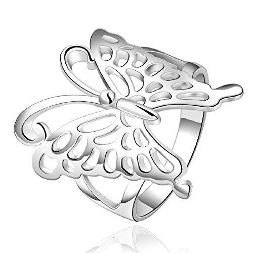 anillo con mariposa hueca