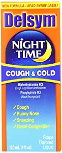 Delsym Adult, Night Time Cough and Cold, 4 Ounce