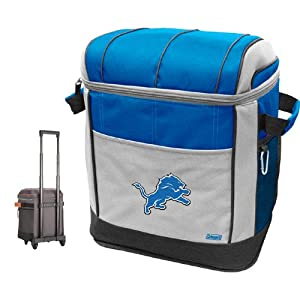 NFL Detroit Lions 50 Can Soft Sided Rolling Coleman Cooler by Licensed Products