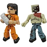 Walking Dead Minimates Series 4 Prison Lorie and Zombie (Pack of 2)