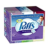 Puffs Ultra Soft and Strong Facial Tissues, Family Boxes, 744-Count