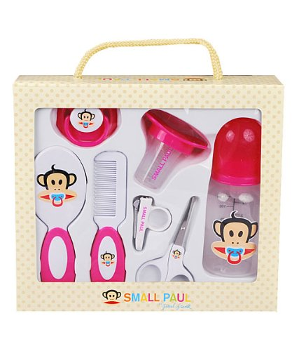 Small Paul 7 Piece Infant Care & Grooming Gift Set - Pink BPA Free