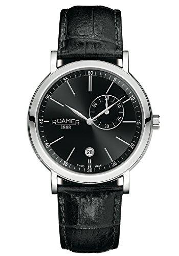 Roamer Men's Quartz Watch VANGUARD 934950 SL3 with Leather Strap