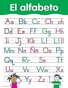 alfabeto Spanish Basic Skills Charts (5791) (5791) : Office Products