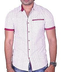Equipoise Men's Cotton Casual Shirt (EQ-04 XXL/46_White_XXL)