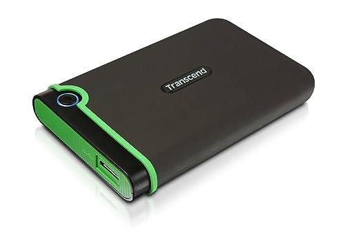 Transcend StoreJet 25M3 - Disco duro externo de 2 TB (ultra resistente de grado militar, 2.5