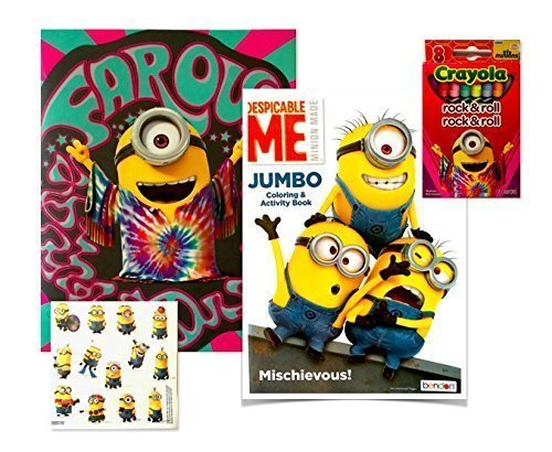 Minions Coloring Books For Kids 4 Piece Set With Book, Play Pack ...