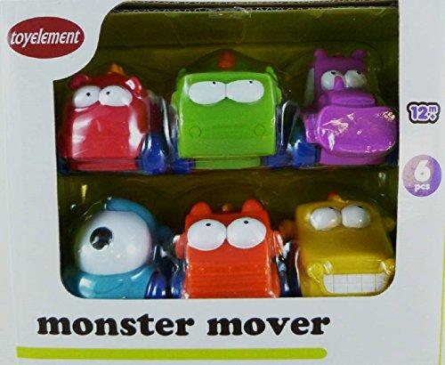 "6-Pack ""Monster Movers"" Soft Wheeled Trucks"