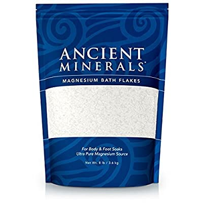 Ancient Minerals Magnesium Bath Flakes Single Use Pouch - 1.65 lb Bag (Pack of 3) , Ancient-jthd