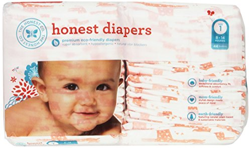 The Honest Company Disposable Diapers - Giraffe - Size 1 - 44 ct - 1