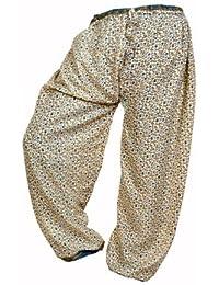 Women's Cotton Harem Pants Afghani Trousers - B06XVF6ZHH