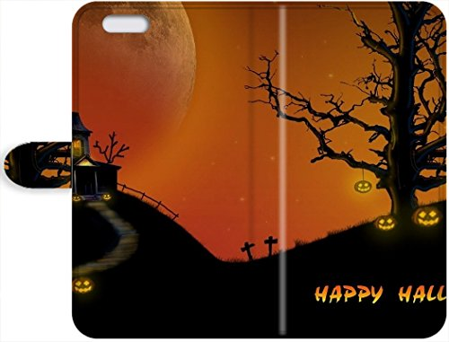New Style Cute Appearance Cover/Leather iPhone 7 Leather Case For Halloween Wallpaper (Cute Halloween Wallpaper Iphone)