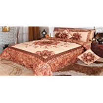 DaDa Bedding Autumn Comforter Set Twin / Queen / King Patchwork Bronze