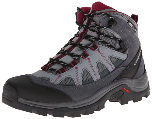 Salomon Women's Authentic LTR CS WP W Boot,Pearl Grey/Grey Denim/Mystic Purple