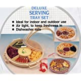 Chip, Dip and Finger Food Serving Tray with Six Compartments