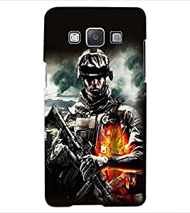 ColourCraft The Soldier Design Back Case Cover for SAMSUNG GALAXY A5 A500F
