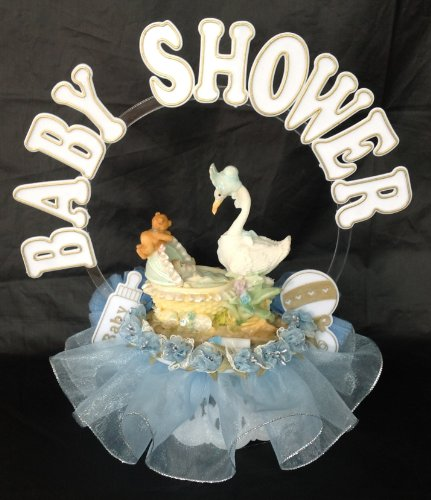 Mother Goose Boy Baby Shower Cake Top Christening Decoration Centerpiece front-676791