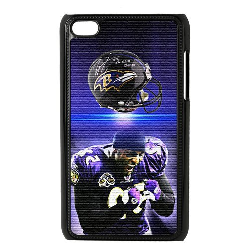 Fashionable Baltimore Ravens Personalized Ipod Touch 4 with Ray Lewis Plastic Hard Case Cover at Amazon.com