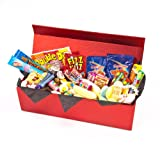 Retro Sweet Shop Red and Shiny Gift Box by Chewbz, filled with classic sweetshop retro sweets including double dips, flumps, sherbet fountains, drumsticks and more. Fantastic value and a perfect present for retro sweet fans.