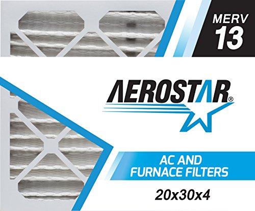 Aerostar 20x30x4 Commercial HVAC Filter - Merv 13, Box of 6