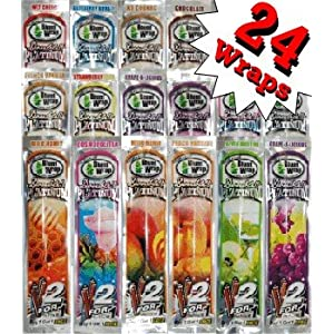 Double Platinum Blunt Wraps (12 Double Packs)