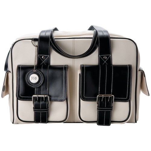 Jill-e Bag 14x8x9.6 Medium Leather with Black Leather Trim Camera Bag - Bone Black Friday & Cyber Monday 2014