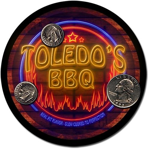 Toledo'S Barbeque Drink Coasters - 4 Pack