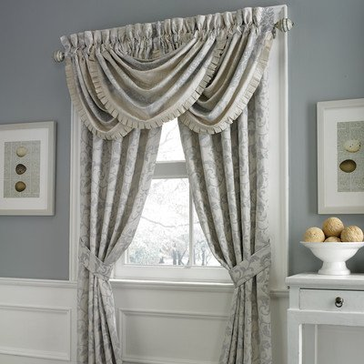 Croscill Splendid Pole Top Drapery, 82 By 84-Inch, Opal front-1009419