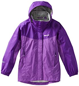 Marmot Girl's Precip Jacket, Purple Shadow/Vibrant Purple, X-Large