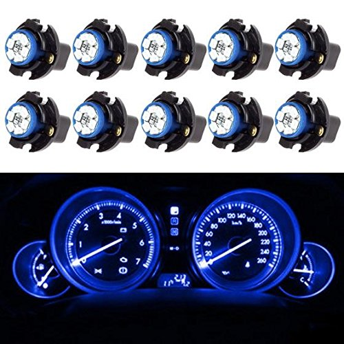 Partsam 10PCS Blue PC194 T10 Instrument Panel LED Lights Gauge Cluster Dash Lamp with Sockets (1999 Chevy S10 Dash Panel compare prices)