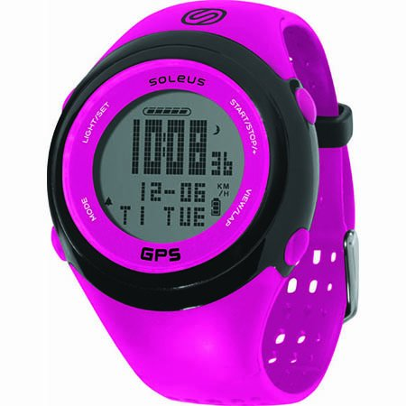 Soleus GPS FIT 1.0 Running Watch, Pink Running Gps