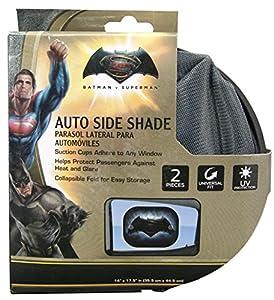 Plasticolor 003738R01 Batman vs. Superman Warner Brothers 2-Piece Side Window Sunshade at Gotham City Store
