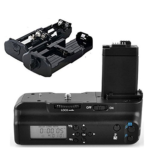 Meike Vertical Muti Power Battery Grip with LCD Screen Display for Canon EOS 450D 500D 1000D Rebel XS XSi T1i as BG-E5 Replacement (Canon Xsi Battery Grip compare prices)