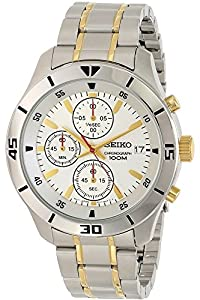 Seiko Men's Stainless Steel Quartz Watch SKS403P1