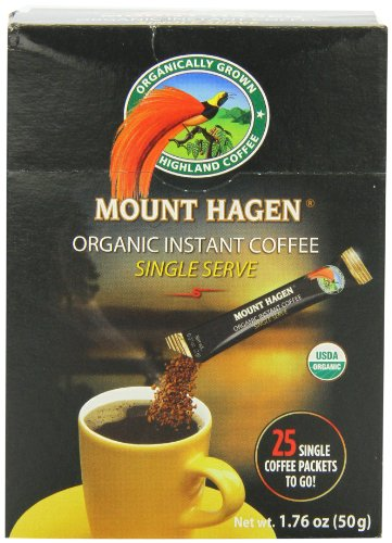 Mount Hagen Organic Instant Regular Coffee, 25-Count Single Serve Packets (Pack Of 4) front-1075575